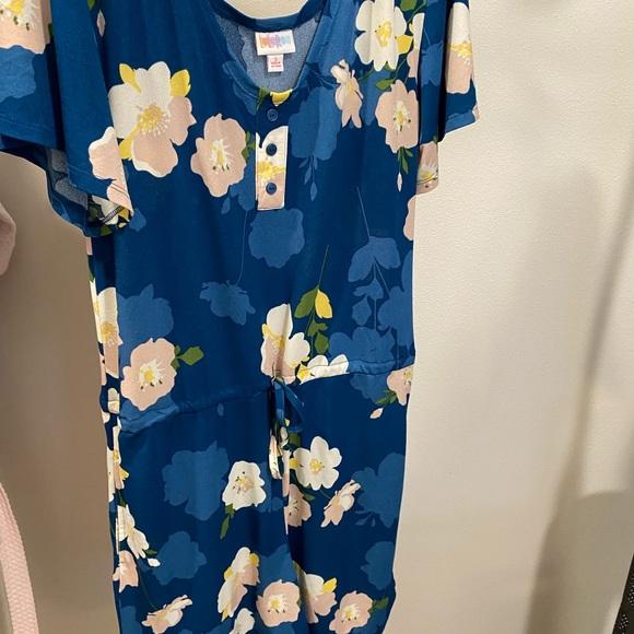 Blue Floral S Xanthe Short Romper
